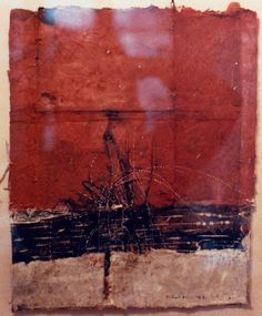 D-31.Sept.1987  painting, collage on paper  林孝彦 HAYASHI Takahiko 1987