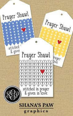 There's a heart within the stitches on this ShanasPaw.com Tag design. Your purchase includes 6 tag templates with your wording and choice of colors.