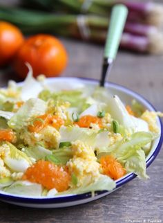 Salade d'endives, oeuf mimosa et clémentine Sandwiches, Savoury Dishes, Potato Salad, Entrees, Bbq, Brunch, Veggies, Vegan, Cooking