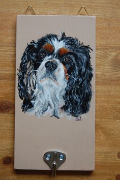 Cavelier King Charles Spaniel   Acryl op hout
