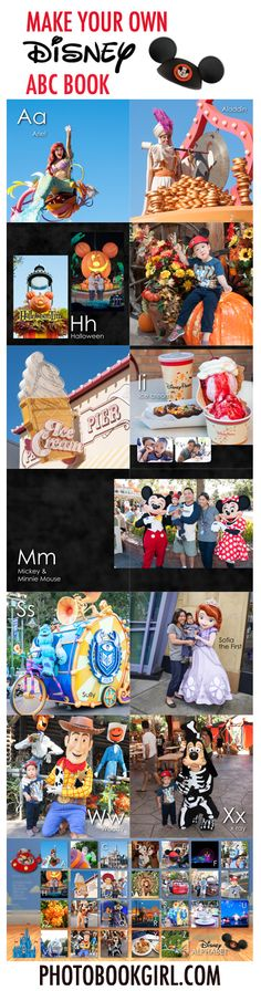 How to make your own personalized ABC book #Disney #ABC book #photobook http://www.photobookgirl.com/blog/personalized-abc-books-disney-style/