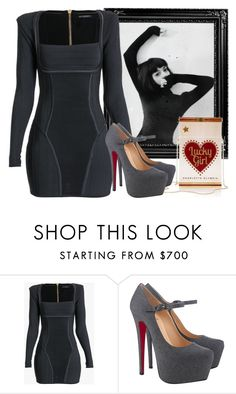 """Standard Features 50"" by antoniasalvato ❤ liked on Polyvore featuring Balmain and Christian Louboutin"