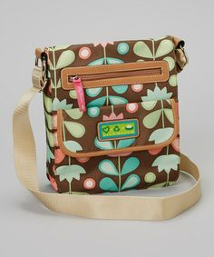 Take a look at this Brown Floral Crossbody Bag by Lily Bloom on #zulily today!  GREEN FRIENDLY!!!  $19.99 from 55.00