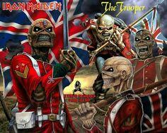 Eddie Iron Maiden Cover, Heavy Metal, Iron Maiden Mascot, Iron Maiden Albums, Eddie The Head, Where Eagles Dare, Rock Poster, The Trooper, Slipknot