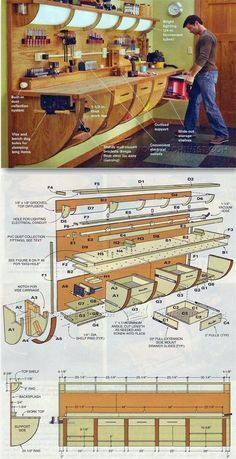 Wall Hung Workbench Plan - Workshop Solutions Projects, Tips and Tricks | WoodArchivist.com More