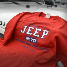"The Jeep Brand is legendary and our Authentic Jeep T Shirt is a great way to carry on the name with pride. Featuring a screenprinted ""Authentic Jeep, Freedom and Capability Since Logo. Cute Comfy Outfits, Casual Outfits, Fashion Outfits, Jeep Sweatshirt, Jeep Wrangler, Jeep Rubicon, Jeep Clothing, Shirt Outfit, T Shirt"