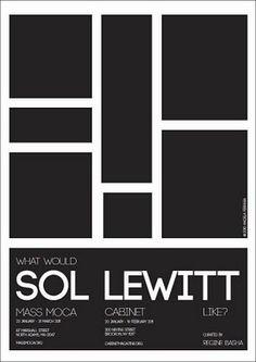 Angela Ferrara Poster for Sol Lewitt, Brazil