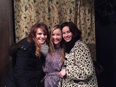 via Alexandra Dowling's Twitter. Connie, Anne and Milady :)