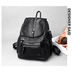 NŐI TÁSKA BURGOS FEKETE VALÓDI BŐR Stylish Backpacks, Leather Books, School Bags, Soft Leather, Leather Backpack, Fashion Backpack, Platform, Women, Girls
