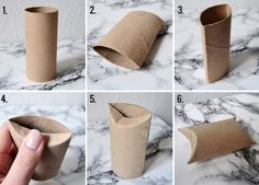 Recycle toilet paper rolls as tiny gift boxes Tiny Gifts, Little Gifts, Diy Recycle, Recycling, Diy Crafts For Gifts, Toilet Paper Roll, Scandinavian Christmas, Make Your Own, Diy Projects