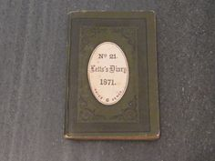 Victorian Pocket Diary 1871 Antique English by WhiteHartAntiques