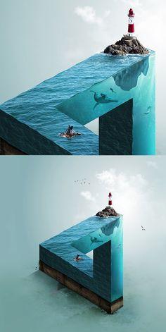 Impossible Sea #photomanipulation #retouching #photography