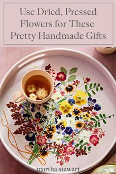 Browse our editors' dried flower craft ideas, embrace your inner florist, and witness your creativity in full bloom. The result will be beautiful, one-of-a-kind gifts that will tell someone special just how much you love them this Valentine's Day. #marthastewart #crafts #diyideas #easycrafts #tutorials #hobby