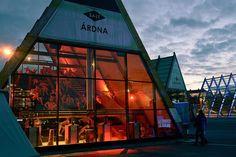 Nomadic art project overlooking Oslo's famous Opera House