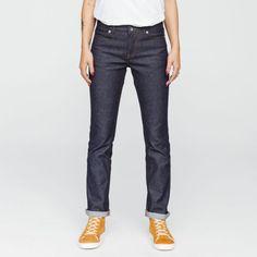 201 Droit SuperDenimFlex Indigo Brut par 1083 (couleur bleu) dans Jeans Droit - Jeans - Vêtements - Femme - MODETIC - Vêtements en coton bio - mode équitable