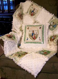 Fussy Cut rag quilt with Minky [photo only - sold on Etsy]