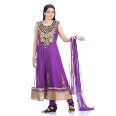 #Returnfavors presenting new #Purple color net cloth #Anarkali #suit http://www.returnfavors.com/net-cloth-purple-color-anarkali-suit-from-returnfavors/