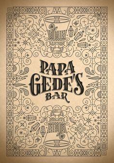 Papa Gede's Bar Sydney Branding and Typography by Steve Hanzic, via Behance