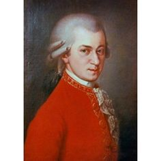Wolfgang Amadeus Mozart Artist Unknown Canvas Art - (24 x 36)