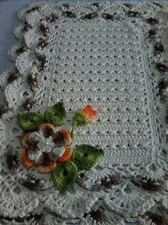 Crochet Home, Knit Crochet, Yarn Crafts, Diy And Crafts, Crochet Stitches, Crochet Patterns, Knit Rug, Crochet Dollies, Baby Afghans