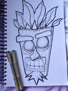 I think I – crash bandicoot. – Graffiti World Badass Drawings, Cool Art Drawings, Pencil Art Drawings, Art Drawings Sketches, Tattoo Sketches, Easy Drawings, Graffiti Tattoo, Graffiti Drawing, Graffiti Art