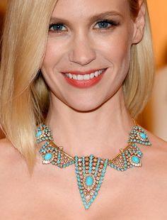 Diamonds are a girl's best friend! January Jones wearing Cartier #MetGala
