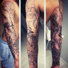 Egyptian Men's Sphinx Tattoos