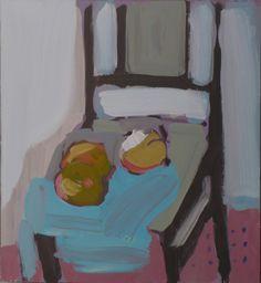 "Saatchi Art Artist: Janusz Gałuszka; Acrylic 2012 Painting ""apples on a chair"""