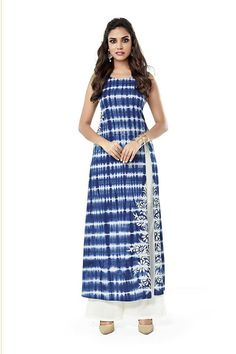 From the runways to the streets, It's all about the tie-dye these days! Buy Salwar Kameez online - http://www.aishwaryadesignstudio.com/haute-couture-blue-and-white-suit