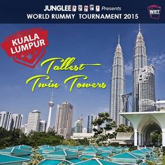 Petronas Towers are the tallest twin buildings in the world. Get a chance to experience this man-made marvel. Participate here - www.jungleerummy.com/wrt #win1crore #wrt2015 #worldrummy #jungleerummy #kualalumpur #malaysia #tallest #tower #petronas #petronastowers