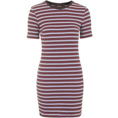 TOPSHOP Striped Bodycon Dress (155 BRL) ❤ liked on Polyvore featuring dresses, vestidos, robes, topshop, multi, striped dress, stripe bodycon dress, body conscious dress, red striped dress and red dress