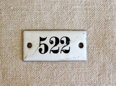 vintage enamel number 522 from Germany black on by AtticAntics, $13.50