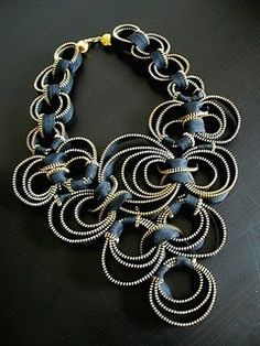 DIY Zipper Jewelry--- I have a ton and there are a ton of ideas on this page.... when board will check out in more detail.