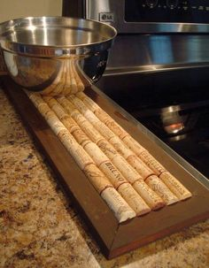 A frame with wine corks glued in it=a hot plate.