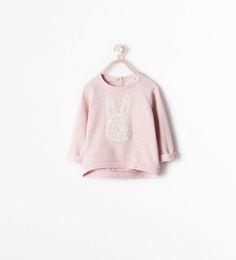 GUIPURE SWEATSHIRT-Sweatshirts-Baby girl (3 months - 3 years)-KIDS | ZARA United States