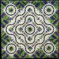 """""""Sky Trails""""  by Marilyn Eparvier.  2013 NQA quilt show"""