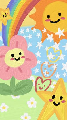 Hippie Wallpaper, Cute Pastel Wallpaper, Go Wallpaper, Cute Patterns Wallpaper, Iphone Background Wallpaper, Painting Wallpaper, Kawaii Wallpaper, Aesthetic Iphone Wallpaper, Screen Wallpaper
