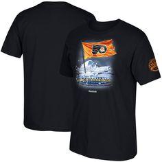 Philadelphia Flyers Reebok 2017 Stadium Series Flag in Ice T-Shirt - Black