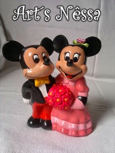 Art's Nêssa - Artesanato: Casal Mickey e Minnie a rigor