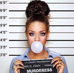 Rihanna mugshot