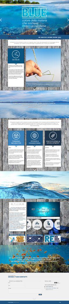 Sito web di presentazione per AzurEmbark Milano - HomePage - Realizzato con Wordpress- Anno 2013