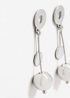 Metal Pendant Earrings Women