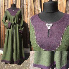 Wunderschönes Kleid aus reiner Schurwolle Viking, Mittelalter, Wikingerkleid