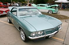 """1965 Chevy Corvair. The car is considered the """"poor man`s classic car"""". I guess that is why I like it so much. Who can complain about cheap and available parts?"""