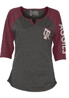 Texas A&M Aggies T-Shirt - Grey/Maroon Aggies Deja Fashion Long Sleeve Tee http://www.rallyhouse.com/college/texas-am-aggies/a/womens/b/t-shirts?utm_source=pinterest&utm_medium=social&utm_campaign=Pinterest-TexasAMAggies $29.99