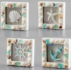 Seashell Projects, Driftwood Crafts, Burlap Crafts, Seashell Art, Seashell Crafts, Sea Crafts, Home Crafts, Shell Display, Deco Marine