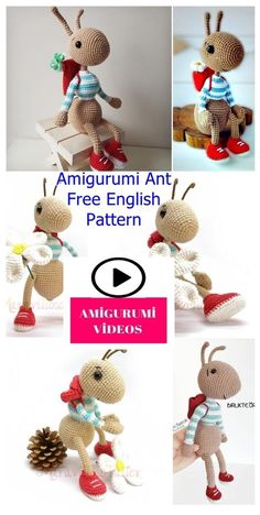 Amigurumi Ant Free Crochet Pattern | Easter crochet patterns ... | 468x236
