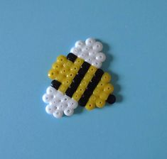 Little Bumble Bee pixelated charm decoration gift by kendaljames