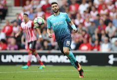 Borja Baston of Swansea City during his debut for the club against Southampton
