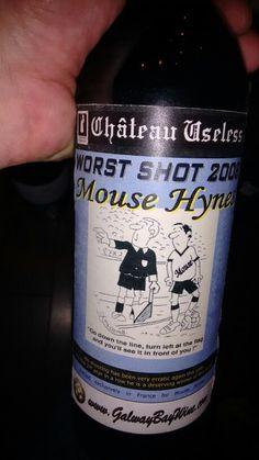 'Worst Shot' award for the 2008 season. a collectors item! Shots, Friday, Drinks, Bottle, Drinking, Beverages, Flask, Drink, Jars